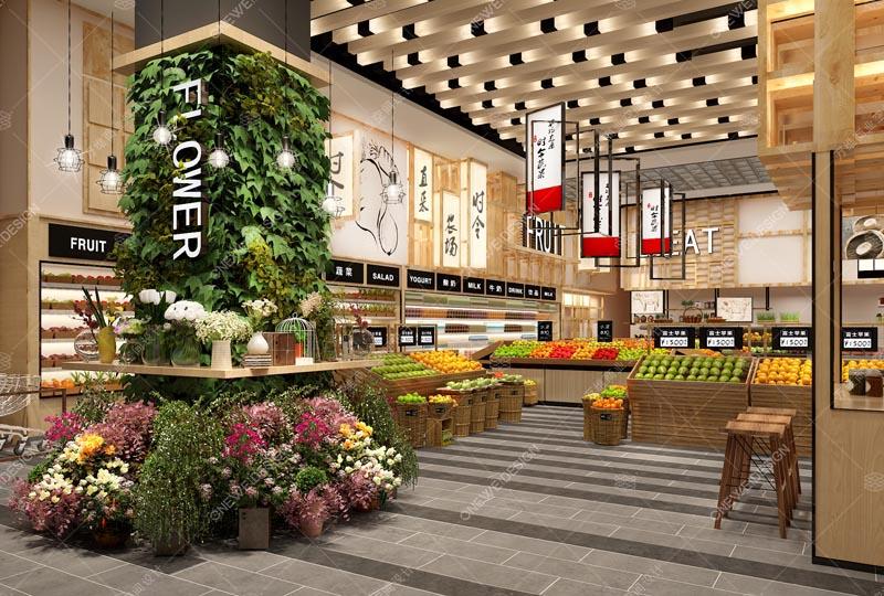 仁和春天精品超市设计_万维商业空间设计