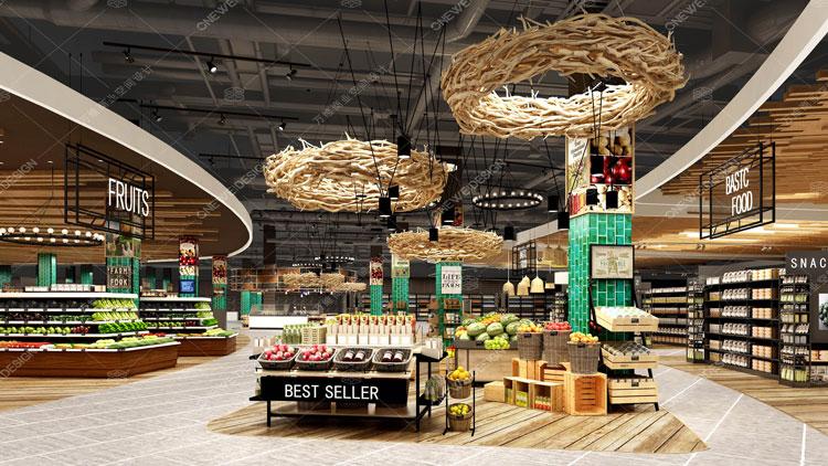 北国先天下 U LIFE 精品超市设计_万维商业空间设计