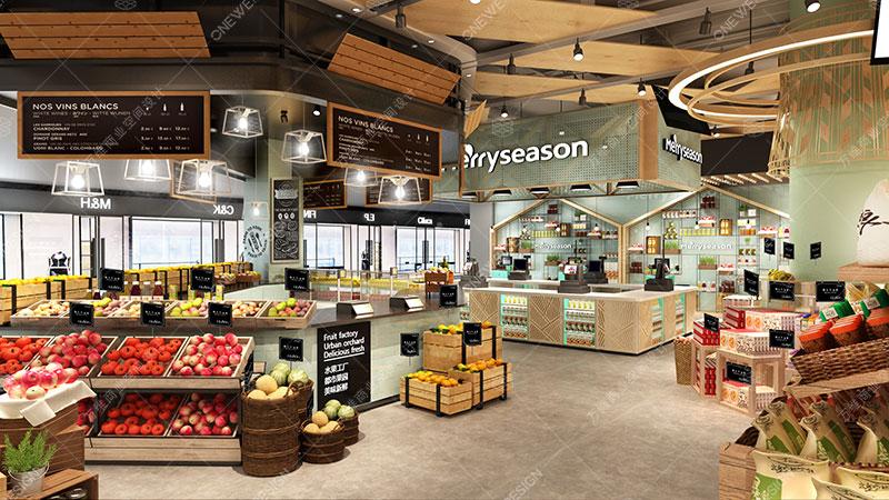 每时美季精品超市设计_万维商业空间设计