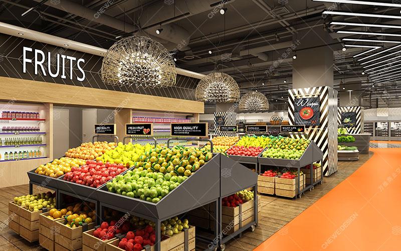 W-SUPER精品超市设计_万维商业空间设计