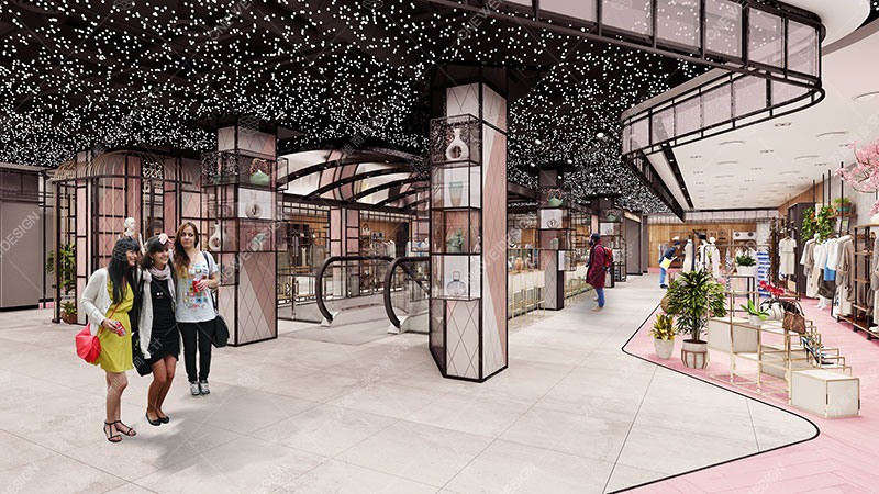 寿康华悦城购物中心设计_万维商业空间设计