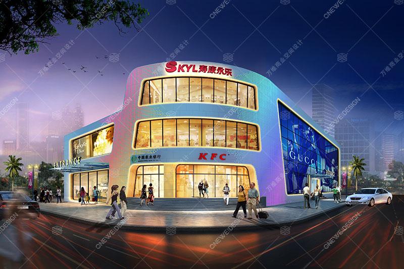 永乐风尚购物中心设计_万维商业空间设计
