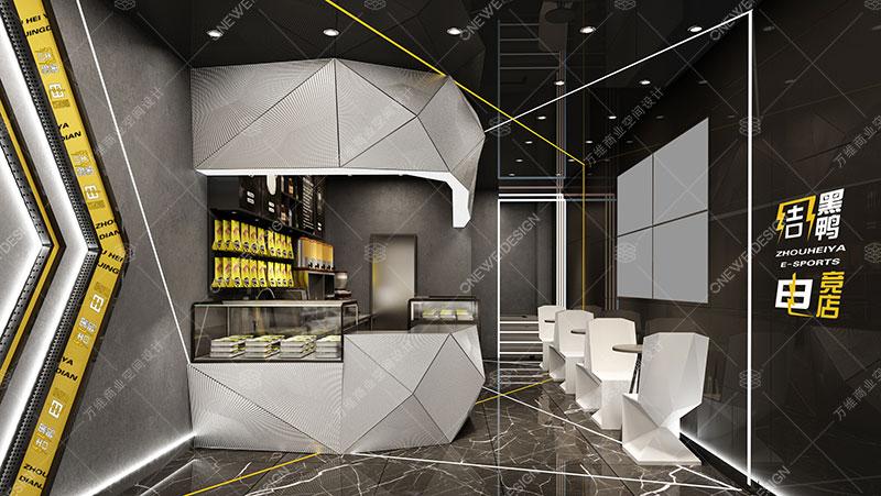 周黑鸭电竞主题店连锁店设计_万维商业空间设计