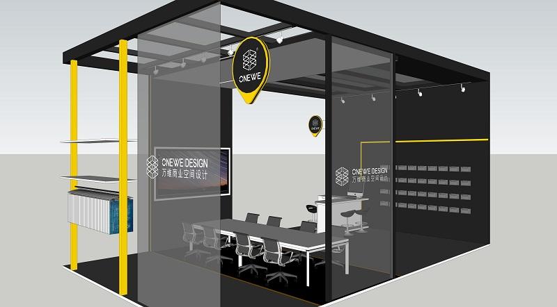 万维商业空间设计2018第二十届中国零售业博览会展位效果图