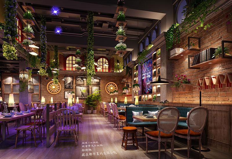 榕树栖餐厅设计_万维商业空间设计