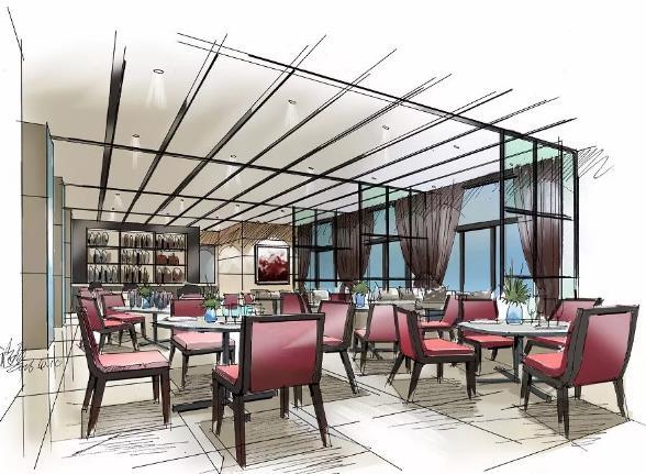 餐饮商业空间设计中的手绘赏析