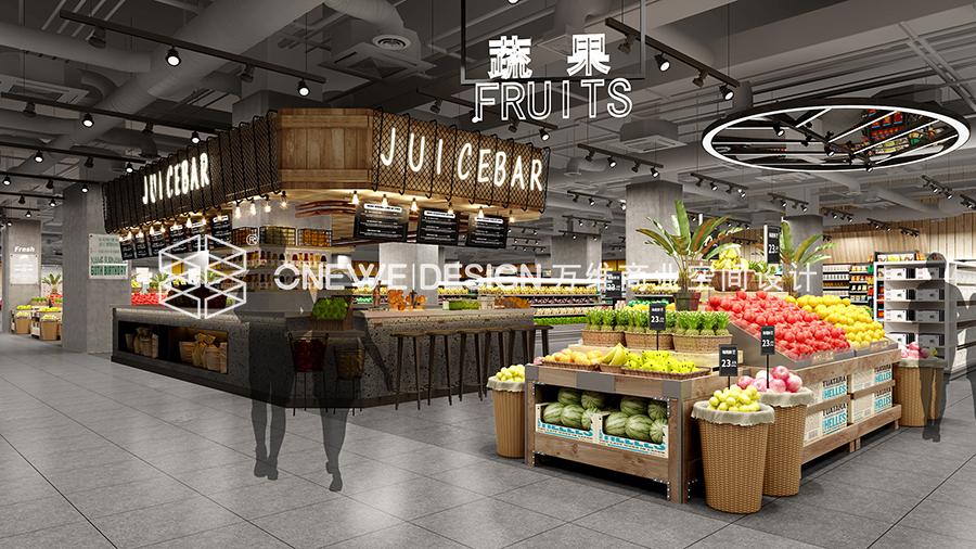 银川新华百货蔬果区设计