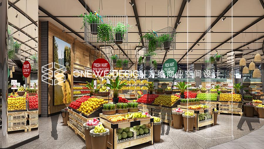 兰州物美超市蔬果区设计