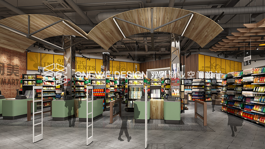 兰州物美超市零食区设计