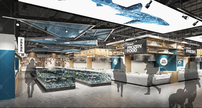 菜市场水产区摊位设计