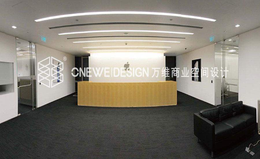 苹果北京办公室办公空间设计_万维商业空间设计