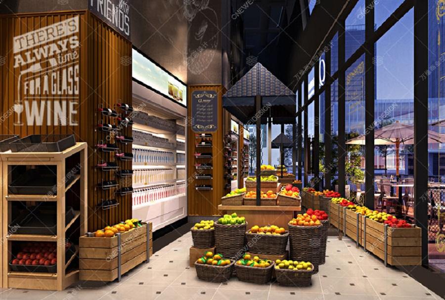 进口超市设计效果图