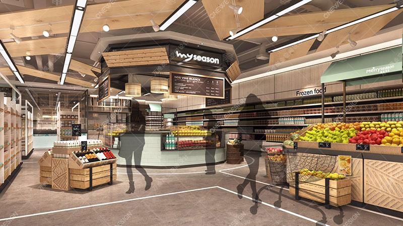 怎么设计超市